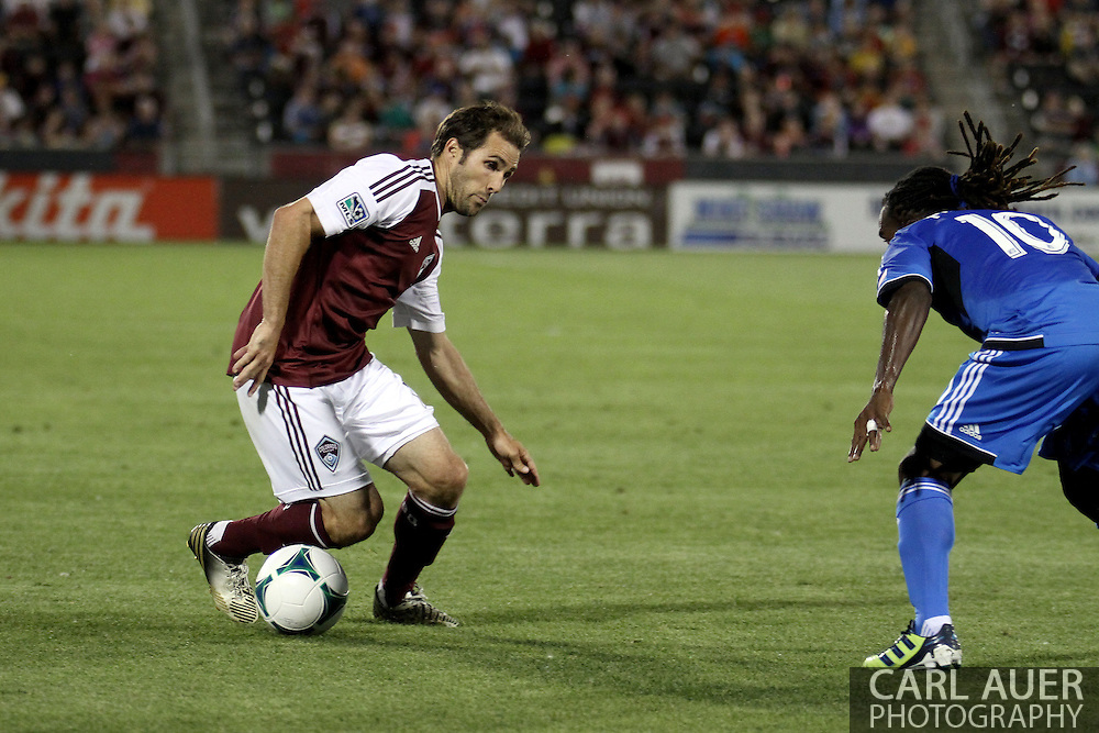 June 15th, 2013 - Colorado Rapids midfielder Brian Mullan (11) attempts to get past San Jose Earthquake midfielder Walter Martinez (10) in second half action of the MLS match between San Jose Earthquake and the Colorado Rapids at Dick's Sporting Goods Park in Commerce City, CO