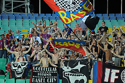 21.08.2013, Nationalstadion, Sofia, BUL, UEFA CL Play off, PFC Ludogorez Razgrad vs FC Basel, im Bild Basel Fans // during the UEFA Champions League, Play off first leg match between PFC Ludogorez Razgrad and FC Basel at Nationalstadium in Sofia, Bulgaria on 2013/08/21. EXPA Pictures © 2013, PhotoCredit: EXPA/ Freshfocus/ Andy Mueller<br /> <br /> ***** ATTENTION - for AUT, SLO, CRO, SRB, BIH only *****