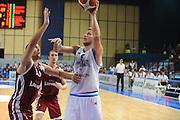 DESCRIZIONE : Bari Qualificazioni Europei 2011 Italia Lettonia<br /> GIOCATORE : Stefano Mancinelli<br /> SQUADRA : Nazionale Italia Uomini <br /> EVENTO : Qualificazioni Europei 2011<br /> GARA : Italia Lettonia<br /> DATA : 20/08/2010 <br /> CATEGORIA : Tiro<br /> SPORT : Pallacanestro <br /> AUTORE : Agenzia Ciamillo-Castoria/GiulioCiamillo<br /> Galleria : Fip Nazionali 2010 <br /> Fotonotizia : Bari Qualificazioni Europei 2011Italia Lettonia<br /> Predefinita :