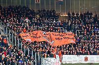 ALKMAAR - 02-02-2016, AZ - HHC, AFAS Stadion, 1-0, supporters HHC, spandoek.