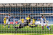 Goal 4-0 Blackburn Rovers defender Derrick Williams (3) scores a goal 4-0 and celebrates during the EFL Sky Bet Championship match between Blackburn Rovers and Wycombe Wanderers at Ewood Park, Blackburn, England on 19 September 2020.