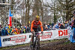 Eddy VAN IJZENDOORN (33,NED), 7th lap at Men UCI CX World Championships - Hoogerheide, The Netherlands - 2nd February 2014 - Photo by Pim Nijland / Peloton Photos