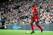 Liverpool forward Sadio Mane (10) during the Premier League match between Liverpool and Brighton and Hove Albion at Anfield, Liverpool, England on 30 November 2019.