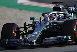 March 1, 2019 - Barcelona, Catalonia, Spain - Formula One preseason 2019; Lewis Hamilton of Mercedes AMG Petronas Formula One Team during the afternoon session of the day 8. (Credit Image: © Marc Dominguez/ZUMA Wire)