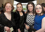 Therese Feeney Castlegar, Aoife King, Salthill, Deirdre McGinley, Salthill, Aine Lynch, Renmore at the Ability West Best Buddy Ball and award night at the Menlo Park Hotel Galway. Photo:Andrew Downes.