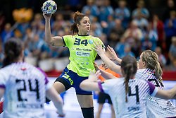Lamprini Tsakalou of RK Krim Mercator during handball match between RK Krim Mercator and FC Midtjylland in Main Round of Women's EHF Champions League 2017/18 , on January 27, 2018 in Sports hall Kodeljevo, Ljubljana, Slovenia. Photo by Urban Urbanc / Sportida