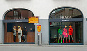 Prada shop in St. Moritz, Switzerland