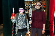 """Rehearsal of the Opera """"The Two Heroic Families"""" at the West Kowloon Bamboo theatre."""