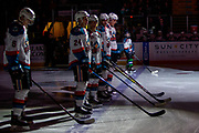 KELOWNA, CANADA - FEBRUARY 06: Pepsi Player of the Game in the Lineup at the Kelowna Rockets game on February 06, 2019 at Prospera Place in Kelowna, British Columbia, Canada. (Photo By Cindy Rogers/Nyasa Photography, *** Local Caption ***
