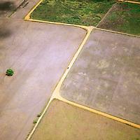 Vista aérea de zona agrícola, Estado Monagas, Venezuela