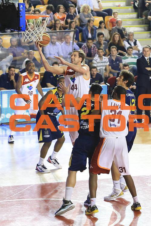 DESCRIZIONE : Roma Lega A 2012-2013 Acea Roma Sutor Montegranaro<br /> GIOCATORE : Peter Lorant<br /> CATEGORIA : tiro<br /> SQUADRA : Acea Roma<br /> EVENTO : Campionato Lega A 2012-2013 <br /> GARA : Acea Roma Sutor Montegranaro<br /> DATA : 05/05/2013<br /> SPORT : Pallacanestro <br /> AUTORE : Agenzia Ciamillo-Castoria/M.Simoni<br /> Galleria : Lega Basket A 2012-2013  <br /> Fotonotizia : Roma Lega A 2012-2013 Acea Roma Sutor Montegranaro<br /> Predefinita :