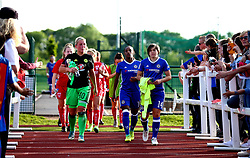 Chelsea Ladies FC subs walk out at Stoke Gifford Stadium for the fixture against Bristol City Women - Mandatory by-line: Robbie Stephenson/JMP - 31/05/2017 - FOOTBALL - Stoke Gifford Stadium - Bristol, England - Bristol City Women v Chelsea Ladies - FA Women's Super League Spring Series