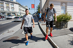 Luka Doncic at media day of Basketball Federation of Slovenia on August 1, 2017, Train station Ljubljana, Ljubljana, Slovenia. Photo by Urban Urbanc / Sportida
