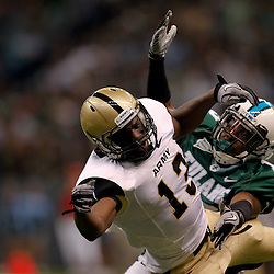 October 9, 2010; New Orleans, LA, USA; Tulane Green Wave cornerback Phillip Davis (13) is called for pass interference against Army Black Knights wide receiver Davyd Brooks (13) during the first half at the Louisiana Superdome.  Mandatory Credit: Derick E. Hingle