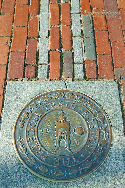 The Freedom Trail Marker, Boston