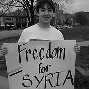 Protest in Kansas City, Missouri against atrocites in Syria by Bashar Al-Assad.