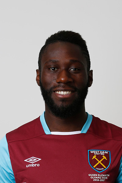 LONDON, ENGLAND - AUGUST 06:  Arthur Masuaku of West Ham poses during a Premier League portrait session on August 6, 2016 in London, England. (Photo by Tom Shaw/Getty Images)