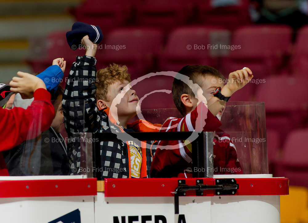 22 November 2014:  kids  during a game between the Chilliwack Chiefs and the Coquitlam Express at Prospera Centre, Chilliwack, BC.    ****(Photo by Bob Frid - All Rights Reserved 2014): mobile: 778-834-2455 : email: bob.frid@shaw.ca ****