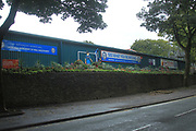 Rochdale wonder wall, community planting, in memory of Rochdale director - community spirit during the EFL Sky Bet League 1 match between Rochdale and Gillingham at Spotland, Rochdale, England on 15 September 2018.