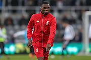 Liverpool forward Christian Benteke  during the Barclays Premier League match between Newcastle United and Liverpool at St. James's Park, Newcastle, England on 6 December 2015. Photo by Simon Davies.
