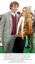 MR SAMI ROBERTSON and LADY GEORGINA PEPYS, at a race meeting in Surrey on 25th April 2003.	PJD 12