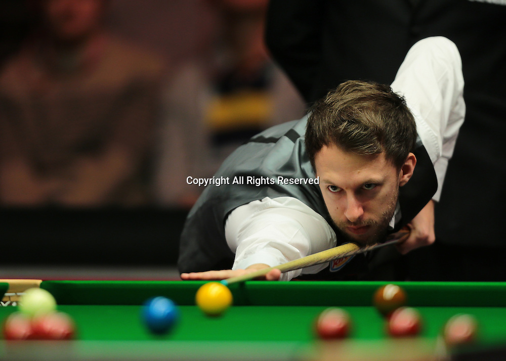 16.01.2016.  Alexandra Palace, London, England. Masters Snooker. Semi Finals. Judd Trump during the first frame