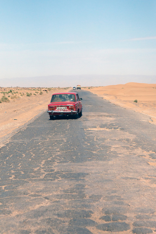 The state of the roads outside the main cities in Turkmenistan