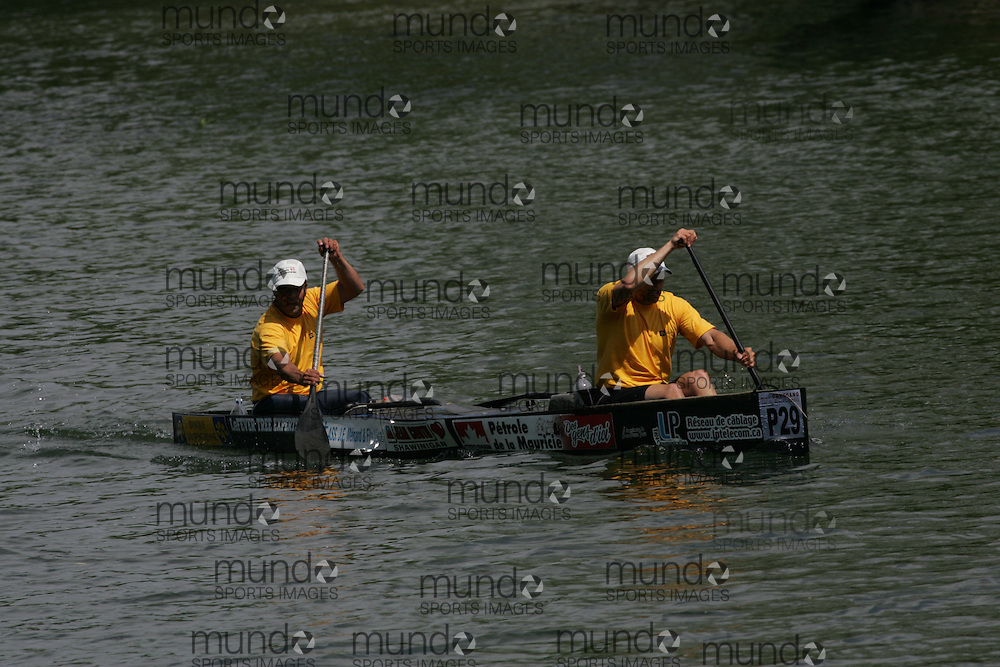 (Cooperstown to Bainsbridge, NY---26 May 2008) The 2008 General Clinton Regatta for Canoes held on 70 miles of the Susquehana River between Cooperstown and Bainsbridge, New York. The boat pictured is P29 FRANCOIS DAGENAIS, LUC PRUNEAU