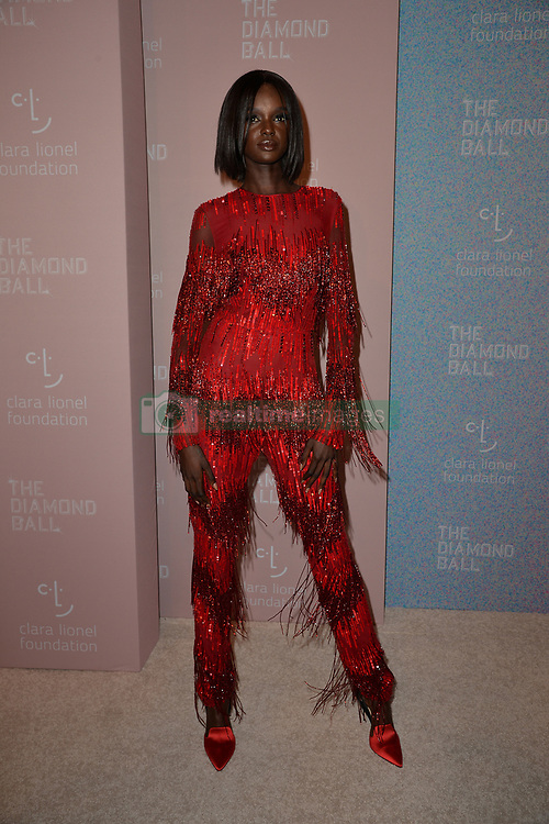 September 13, 2018 - New York, NY, USA - September 13, 2018  New York City..Duckie Thot attending the 4th Annual Clara Lionel Foundation Diamond Ball on September 13, 2018 in New York City. (Credit Image: © Kristin Callahan/Ace Pictures via ZUMA Press)