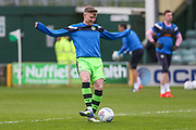Forest Green Rovers Dayle Grubb(8) warming up during the EFL Sky Bet League 2 match between Yeovil Town and Forest Green Rovers at Huish Park, Yeovil, England on 24 April 2018. Picture by Shane Healey.