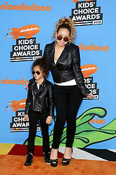 Mariah Carey and Monroe Cannon at the Nickelodeon's 2018 Kids' Choice Awards held at the Forum in Inglewood, USA on March 24, 2018.