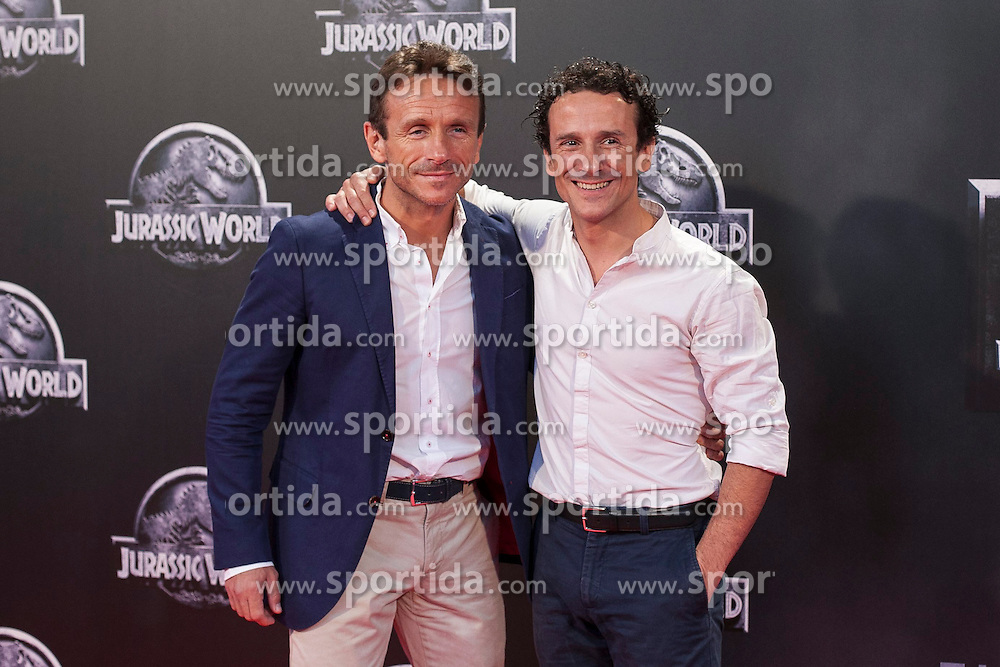 11.06.2015, Madrid, ESP, Jurassic World, Premiere, im Bild Victor Ullate (R) and his brother // attend // to the Jurassic World film premiere in Madrid, Spain on 2015/06/11. EXPA Pictures &copy; 2015, PhotoCredit: EXPA/ Alterphotos/ Victor Blanco<br /> <br /> *****ATTENTION - OUT of ESP, SUI*****