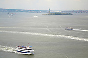 View of the Statue of Liberty from 377 Rector Place, Battery Park City;