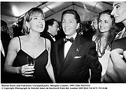 Sharon Stone and Valentino. Unzipped party. Mougins. Cannes. 1995. Film 95231f33<br />