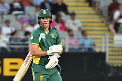March 4, 2017 - Auckland, New Zealand - AB de Villiers of South Africa walks off the field after being run out during the final match of  One Day International series between New Zealand and South Africa at Eden Park on March 4, 2017 in Auckland, New Zealand (Credit Image: © Shirley Kwok/Pacific Press via ZUMA Wire)