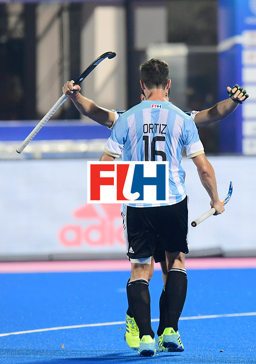 Odisha Men's Hockey World League Final Bhubaneswar 2017<br /> Match id:22<br /> Argentina v Australia Final<br /> Foto: Agustin Bugallo (Arg)  scored 1-1<br /> Ignacio Ortiz (Arg) <br /> COPYRIGHT WORLDSPORTPICS FRANK UIJLENBROEK