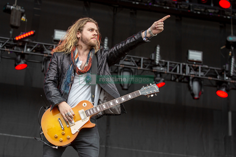May 25, 2018 - Napa, California, U.S - ADAM SLACK of The Struts during BottleRock Music Festival at Napa Valley Expo in Napa, California (Credit Image: © Daniel DeSlover via ZUMA Wire)