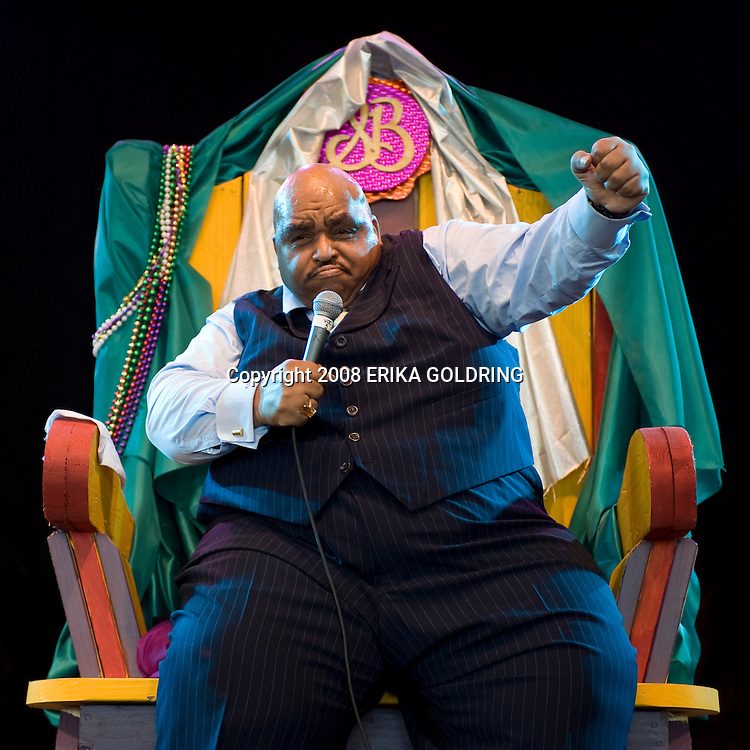Solomon Burke performs at Bonnaroo Music Festival on June 15, 2008, in Manchester, TN.
