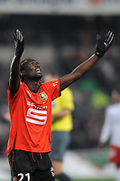 FOOTBALL - FRENCH CHAMPIONSHIP 2009/2010  - L1 - STADE RENNAIS v PARIS SAINT GERMAIN - 19/12/2009 - PHOTO PASCAL ALLEE / DPPI - JOY ISMAEL BANGOURA (REN) AFTER HIS GOAL