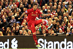 Alberto Moreno of Liverpool in action - Mandatory byline: Matt McNulty/JMP - 11/05/2016 - FOOTBALL - Anfield - Liverpool, England - Liverpool v Chelsea - Barclays Premier League