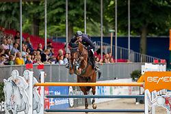 HASSMANN Felix (GER), Balzaci<br /> Münster - Turnier der Sieger 2019<br /> BRINKHOFF'S NO. 1 -  Preis<br /> CSI4* - Int. Jumping competition  (1.50 m) -<br /> 1. Qualifikation Grosse Tour <br /> Large Tour<br /> 02. August 2019<br /> © www.sportfotos-lafrentz.de/Stefan Lafrentz