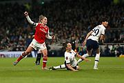Kim Little scores a goal to make it 1-0 during the FA Women's Super League match between Tottenham Hotspur Women and Arsenal Women FC at Tottenham Hotspur Stadium, London, United Kingdom on 17 November 2019.