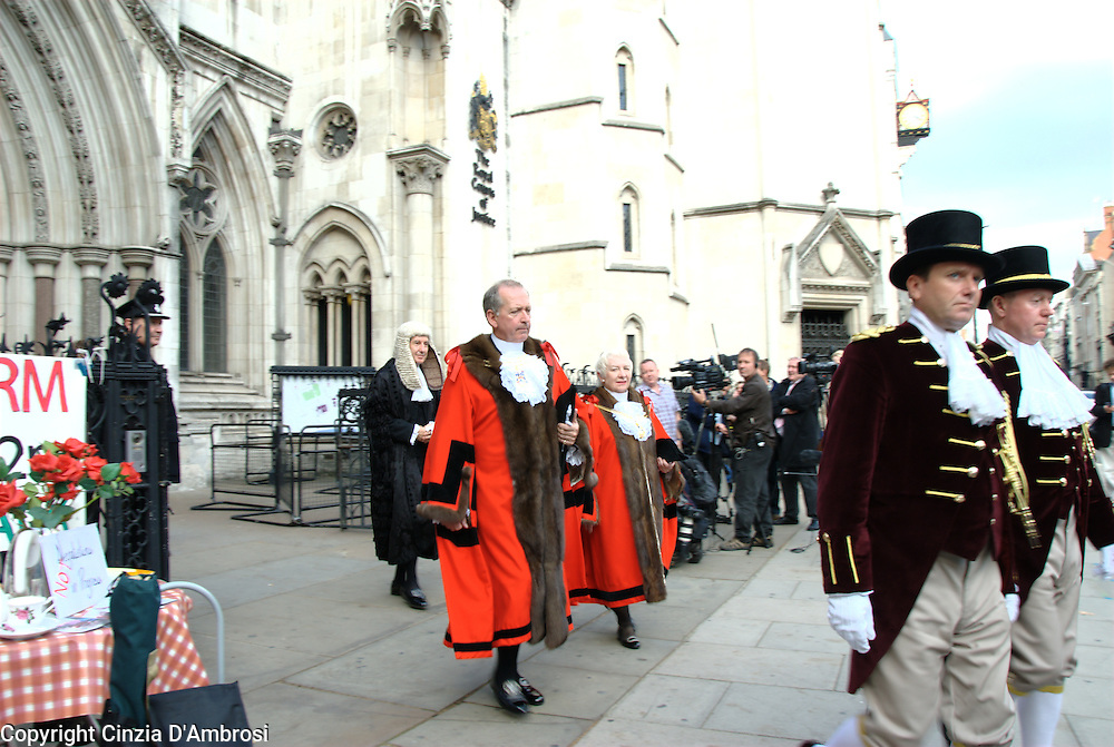 The Judge Ouseley leaving the Court of Justice