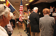 Victims of the attack on the World Trade Center in New York on September 11, 2001, are remembered at a ceremony on September 11, 2011, at Green Valley Elks 2592, Green Valley, Arizona, USA.