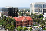 Santa Ana City Scape of Old Orange County Courthouse and Ronald Regan Federal Building