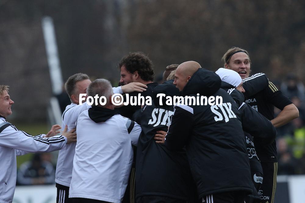 25.10.2015, Keskuskentt&auml;. Sein&auml;joki.<br /> Veikkausliiga 2015.<br /> Sein&auml;joen Jalkapallokerho - FF Jaro.<br /> Mehmet Hetemaj - SJK