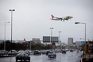 Airplanes fly over Portugal capital city, Lisbon. Pro and con the city airport, the discussion is at it´s peack if the instalation should be mantained or deslocated away from the Capital.