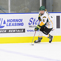 2nd year forward Jaycee Magwood (5) of the Regina Cougars in action during the Women's Hockey Home Game on October 14 at Co-operators arena. Credit: Arthur Ward/Arthur Images