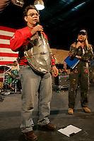 USO show at Abu Ghraib prison<br /><br />photograph by Owen Franken/USO<br /><br />Sgt Maj of the Army Kenneth Preston Al Franken, USO tour