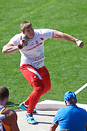 Jakub Szyszkowski of Poland competes in men's shot put qualification during the First Day of the European Athletics Championships Zurich 2014 at Letzigrund Stadium in Zurich, Switzerland.<br /> <br /> Switzerland, Zurich, August 12, 2014<br /> <br /> Picture also available in RAW (NEF) or TIFF format on special request.<br /> <br /> For editorial use only. Any commercial or promotional use requires permission.<br /> <br /> Photo by © Adam Nurkiewicz / Mediasport